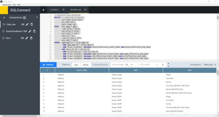 SQLConnect – Adhoc Query App for Oracle Cloud ERP and HCM